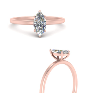 Marquise Cut Solitaire Diamond Ring