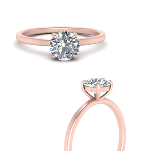 Single Diamond Round Cut Ring