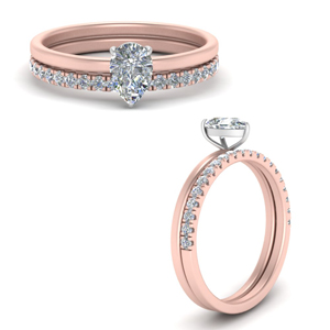 Best Selling Pear Wedding Ring Sets