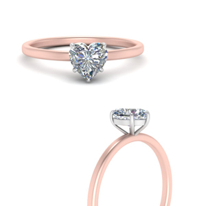 Solitaire Engagement Rings With Heart