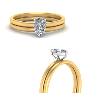 Pear Shaped Bridal Ring Sets