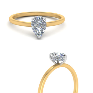 under-halo-pear-petite-two-tone-engagement-ring-in-FD9359TPERANGLE3-NL-YG