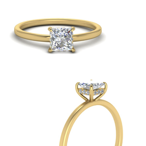 Whisper Setting Princess Cut Ring