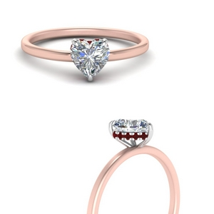 Heart Shaped Ruby Engagement Rings