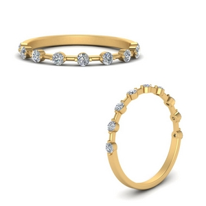 Thin Stackable Diamond Band
