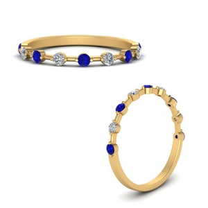 Stackable Rings With Sapphire
