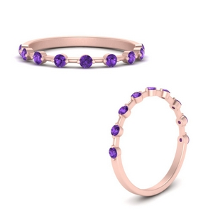 Stackable Ring With Purple Topaz