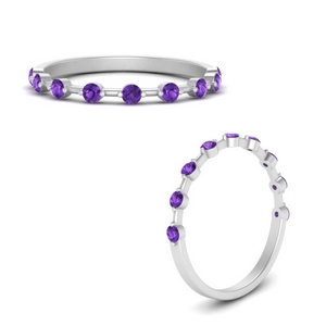Purple Topaz Thin Band