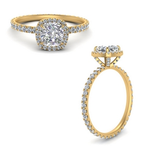 Cushion Cut Halo Engagement Rings