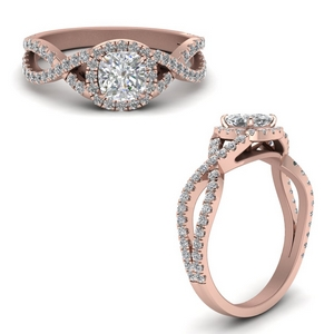 Twist & Swirl Engagement Rings