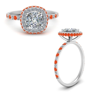 Delicate Shank Orange Topaz Ring