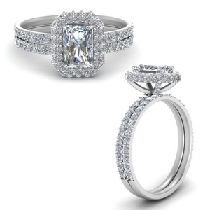 Radiant Cut Engagement Ring With Band