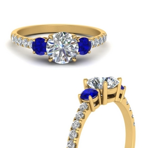 petite-micropave-three-stone-diamond-engagement-ring-with-sapphire-in-FD9383RORGSABLANGLE3-NL-YG