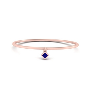 Solitaire Sapphire Thin Ring