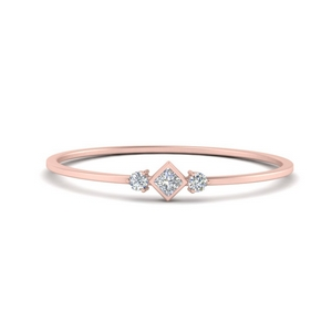 3 Stone Petite Stack Ring