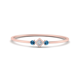 Delicate 3 Stone Stackable Band
