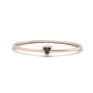Triangle Tiny Rose Gold Ring