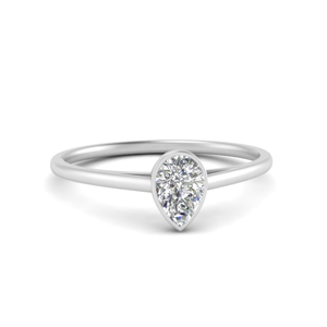 Teardrop Solitaire Ring