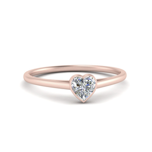Heart Shaped Bezel Set Ring