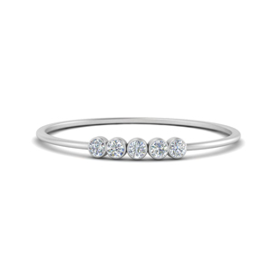 5 Stone Diamond Rings
