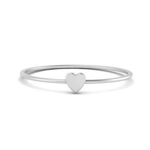 Minimalist Heart Design Ring