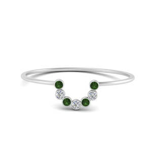 Stackable Ring With Emerald