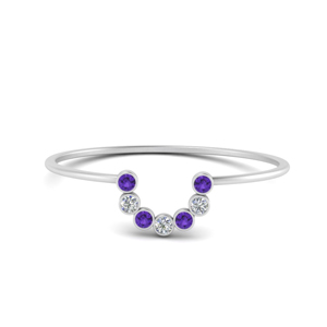 Purple Topaz Curved Stacking Ring