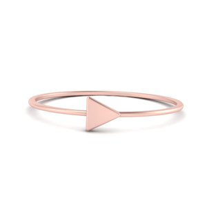Rose Gold Triangle Stack Ring