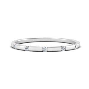 Diamond Wedding Stack Band