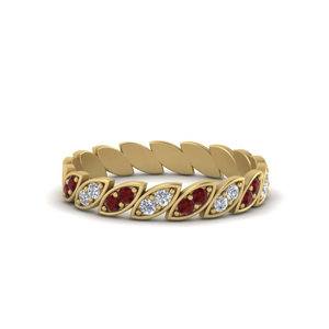 Ruby Art Deco Band