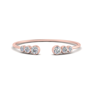 Diamond Open Stacking Rings