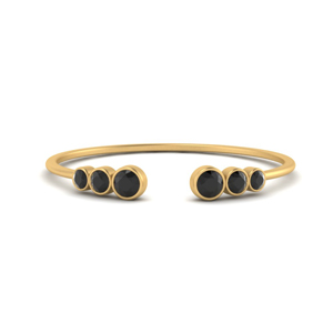 Bezel Set Open Stacking Rings