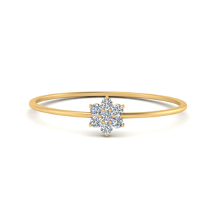 Stacking Floral Diamond Rings