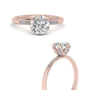 Rose Gold Tapered Engagement Ring