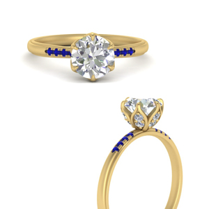 6-prong-flower-tapered-diamond-engagement-ring-with-sapphire-in-FD9452RORGSABLANGLE3-NL-YG