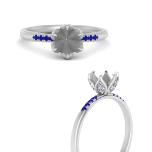 6-prong-semi-mount-flower-tapered-diamond-engagement-ring-with-sapphire-in-FD9452SMRGSABLANGLE3-NL-WG