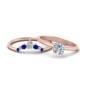 Round Cut Wedding Ring Set