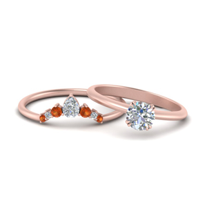 Solitaire Ring With Curved Band