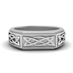 Celtic Engraved Men Ring