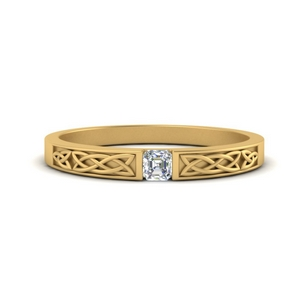 Celtic Single Diamond Band