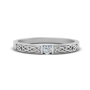 Celtic Round Diamond Band