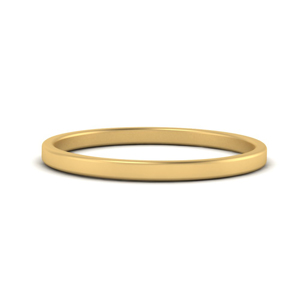 2mm Thin Gold Stacking Band