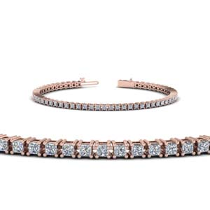tennis diamond push present bracelet in 14K rose gold FDBR00004PR NL RG