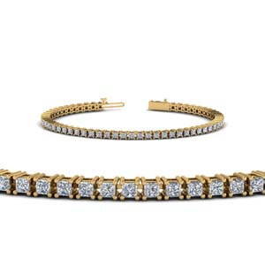 4 Ct. Princess Cut Diamond Bracelet