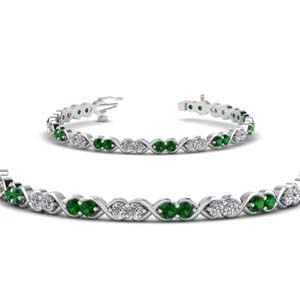 Emerald Twisted Bracelet