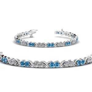 Infinity Diamond Bracelet With Topaz