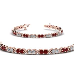Ruby Twisted Diamond Bracelet