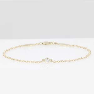 Solitaire Bezel Set Diamond Bracelet
