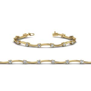 Delicate Diamond Curved Bracelet