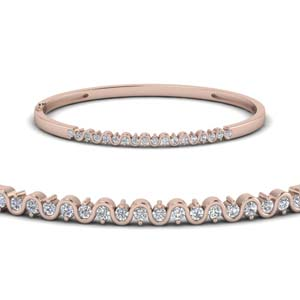 Swirl Diamond Bangle Bracelet
